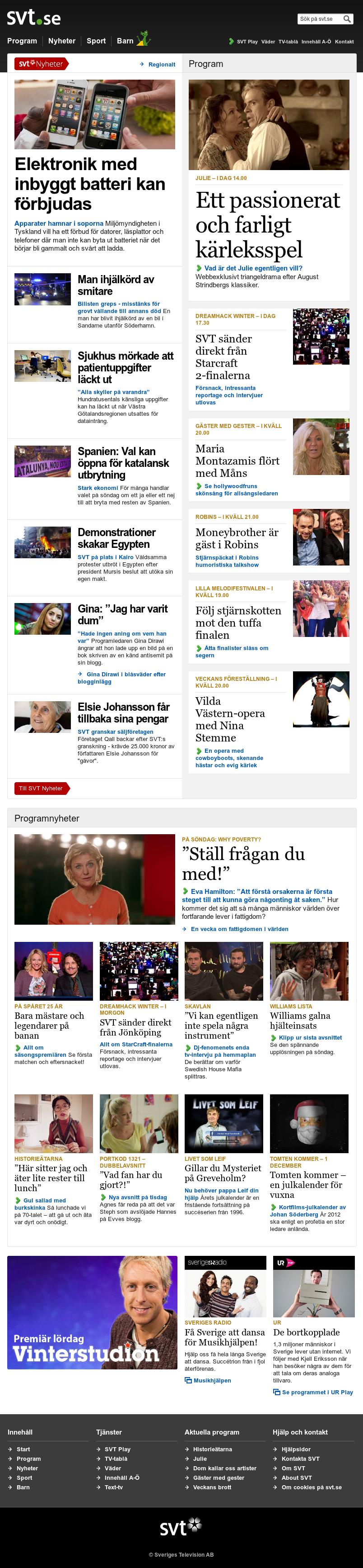 SVT at Saturday Nov. 24, 2012, 5:28 a.m. UTC