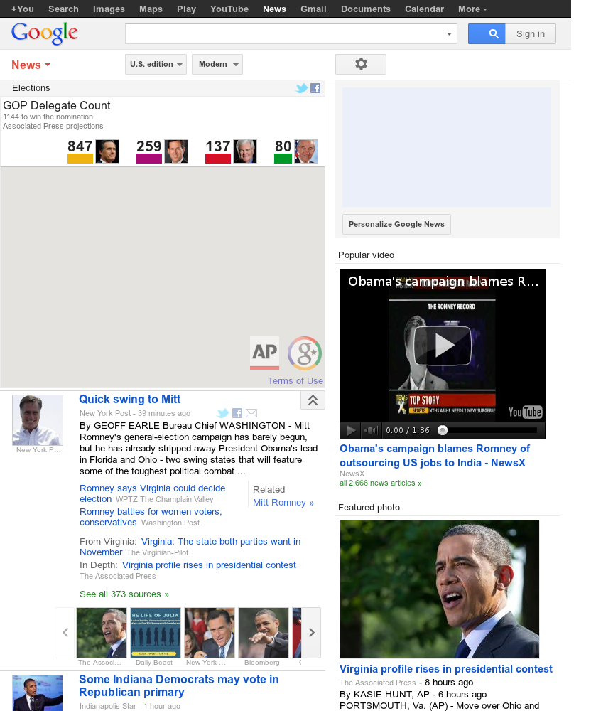 Google News: Elections