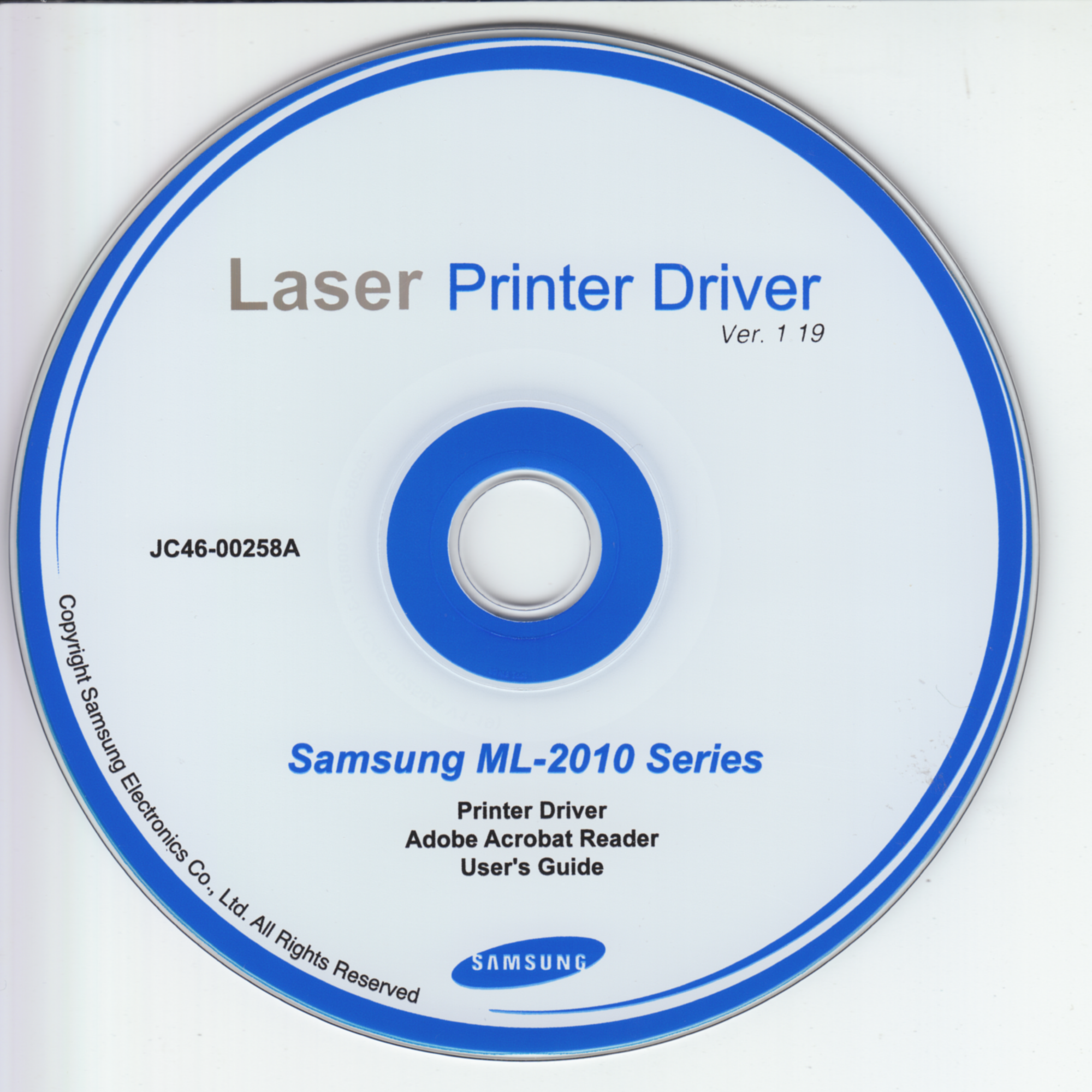 Samsung ML-2010 Series Laser Printer Driver v1.19 (JC46-00258A)