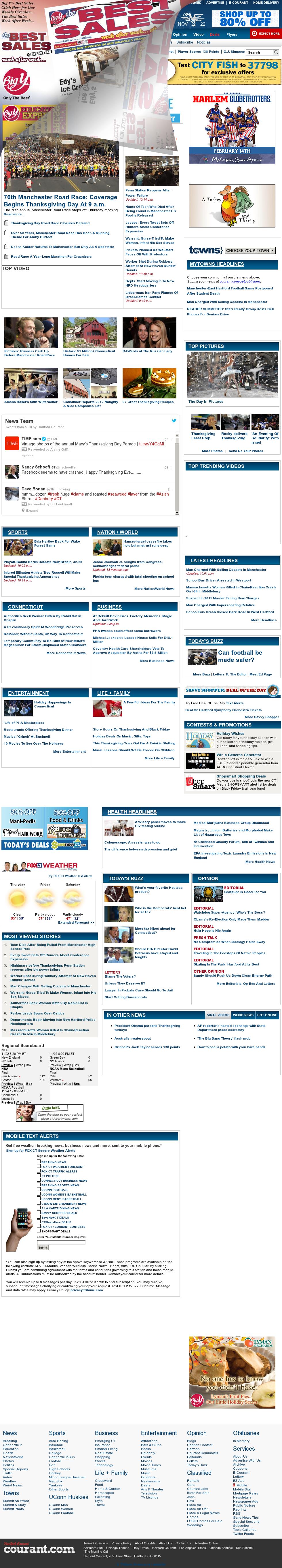 Hartford Courant at Thursday Nov. 22, 2012, 5:14 a.m. UTC