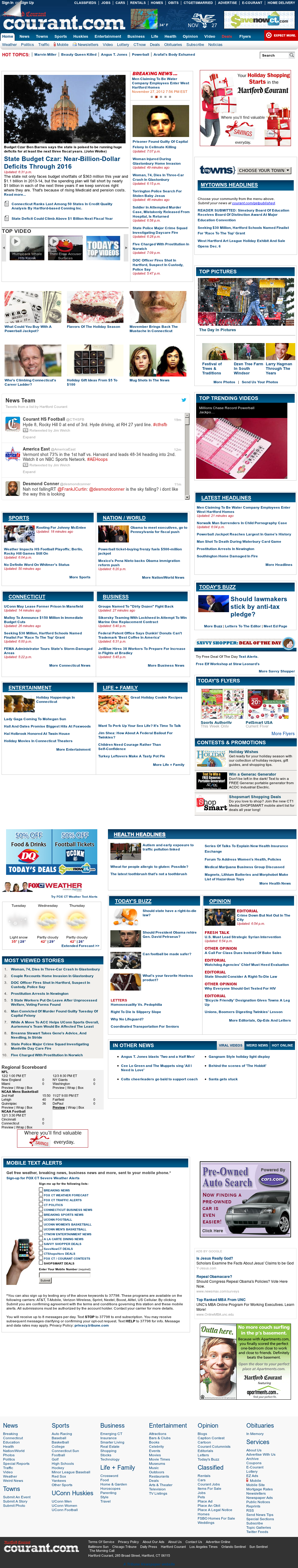Hartford Courant at Wednesday Nov. 28, 2012, 1:16 a.m. UTC