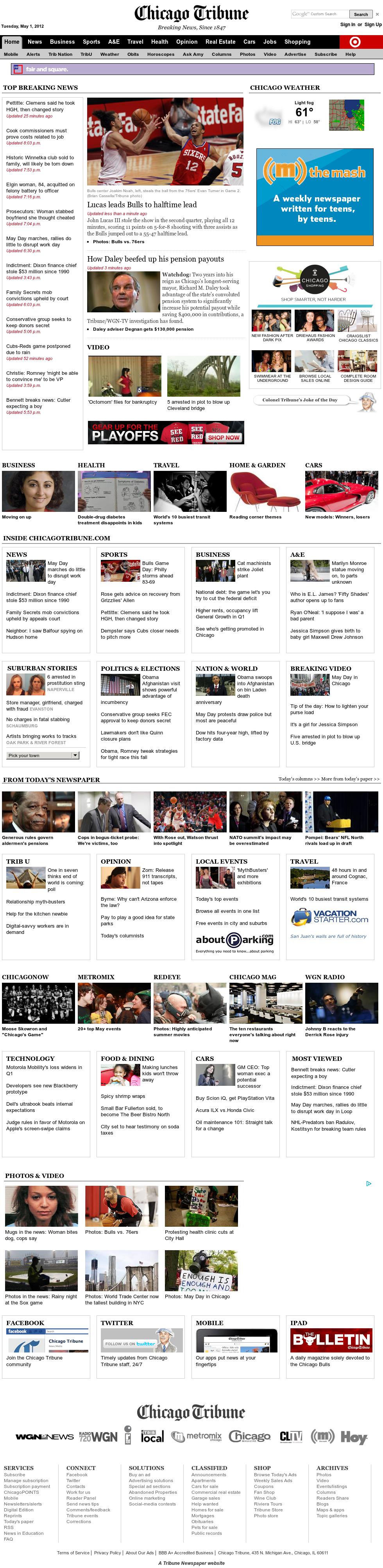 Chicago Tribune at Wednesday May 2, 2012, 2:03 a.m. UTC