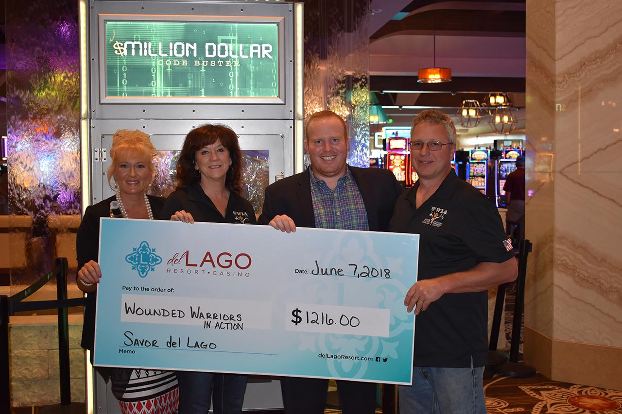 del Lago Resort & Casino's Savor del Lago raises over $1,200 for Wounded Warriors in Action Program