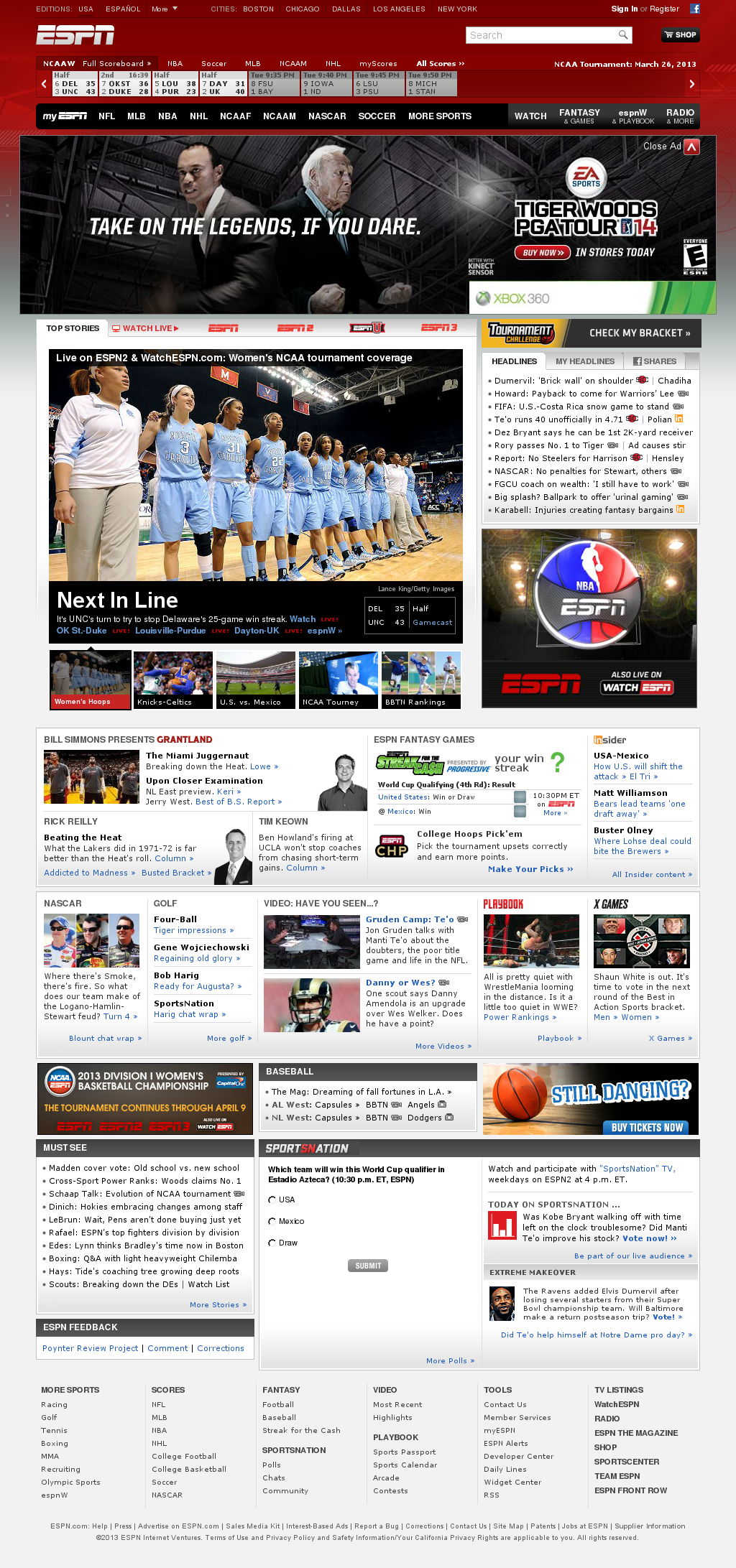 ESPN at Wednesday March 27, 2013, 12:13 a.m. UTC