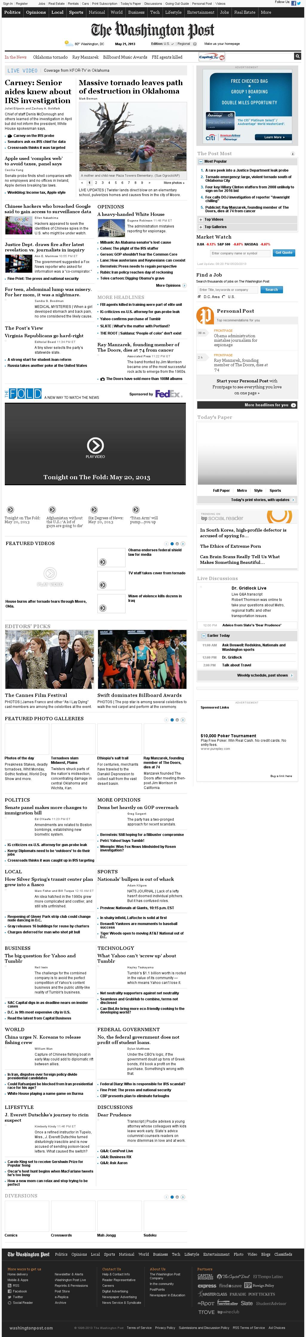 The Washington Post at Tuesday May 21, 2013, 12:27 a.m. UTC