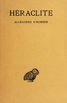 Cover of: Allégories d'Homère | Heraclitus