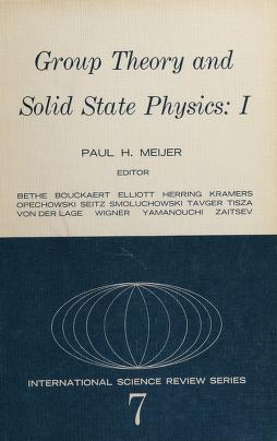 Cover of: Group theory and solid state physics | Paul Herman Ernst Meijer