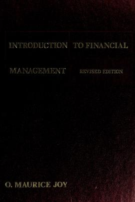 Cover of: Introduction to financial management | O. Maurice Joy