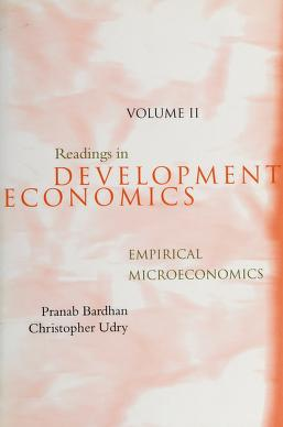 Cover of: Readings in development microeconomics | edited by Pranab Bardhan and Christopher Udry.